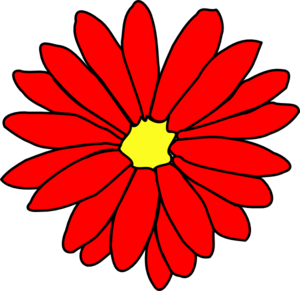 300x291 Red Flower Clipart Daisy
