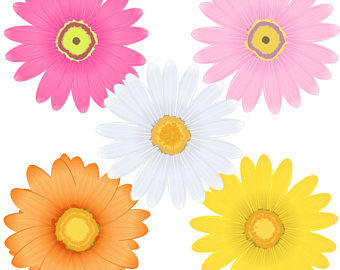 340x270 Daisy Clipart Digital Daisy Flowers Clipart Scrapbook Daisy