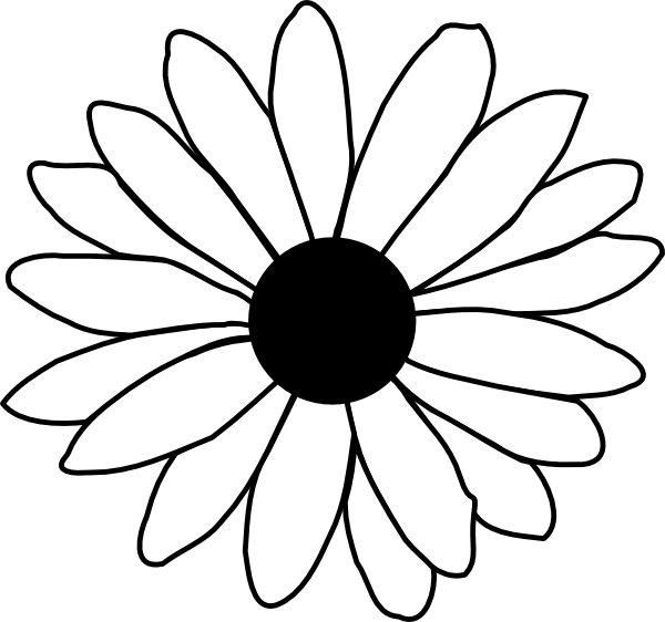 600x562 Gerbera Clipart Simple