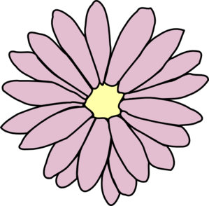 299x294 Pink Daisy Clip Art