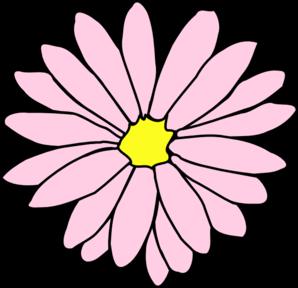 298x288 Pink Daisy Flower 3 Clip Art