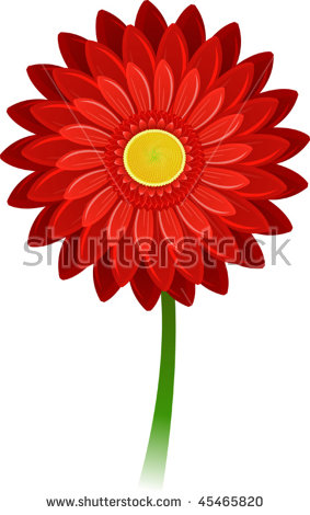 283x470 Red Flower Clipart Daisy
