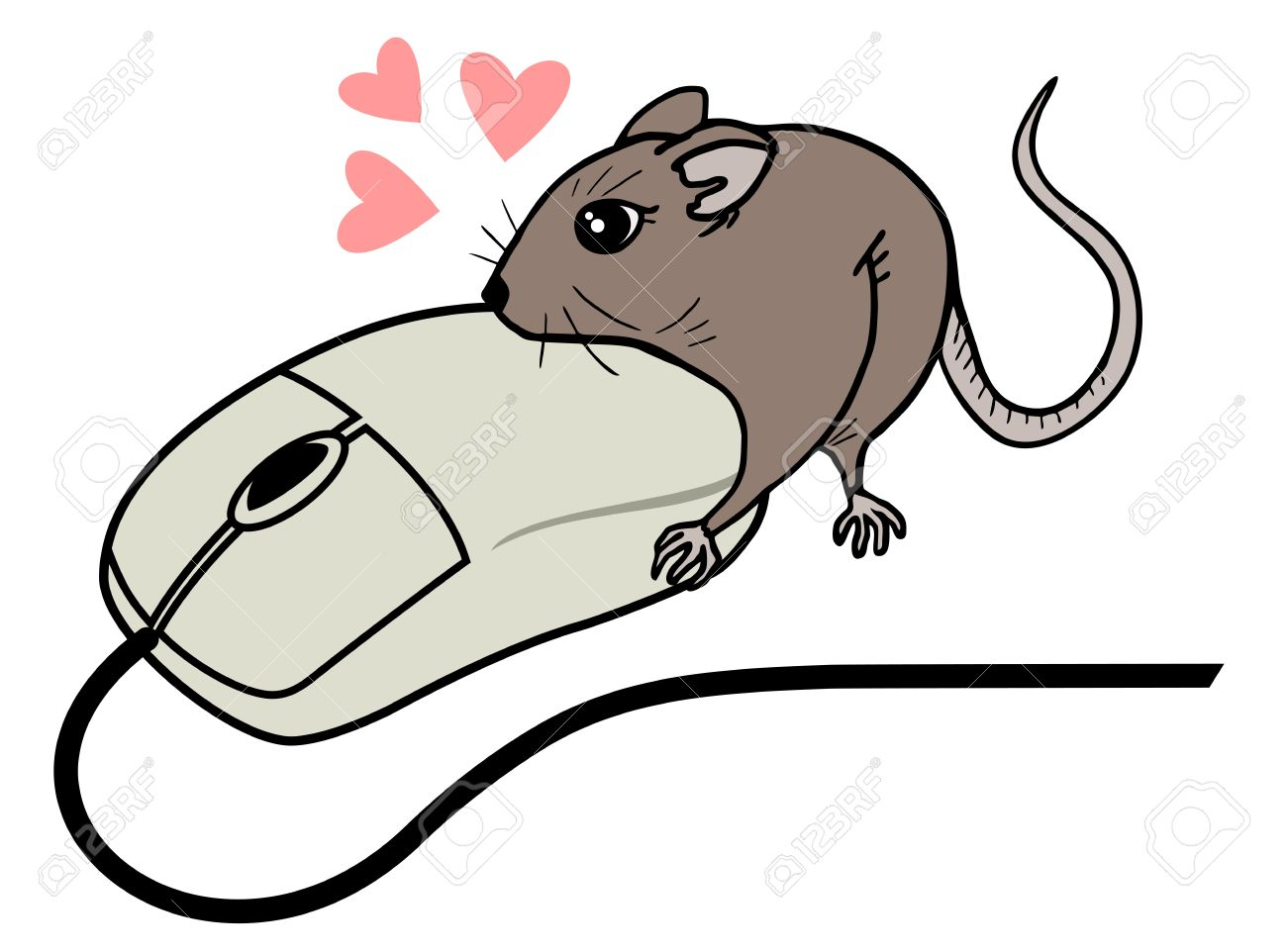 1300x962 Funny Computer Mouse Draw Royalty Free Cliparts, Vectors,