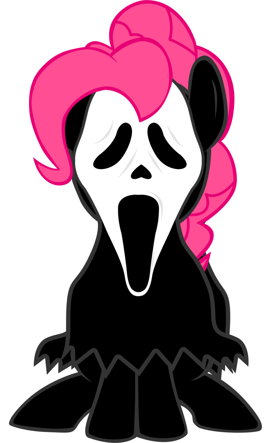 900x1468 Pinkie Pie Ghost Face By Lcpsycho
