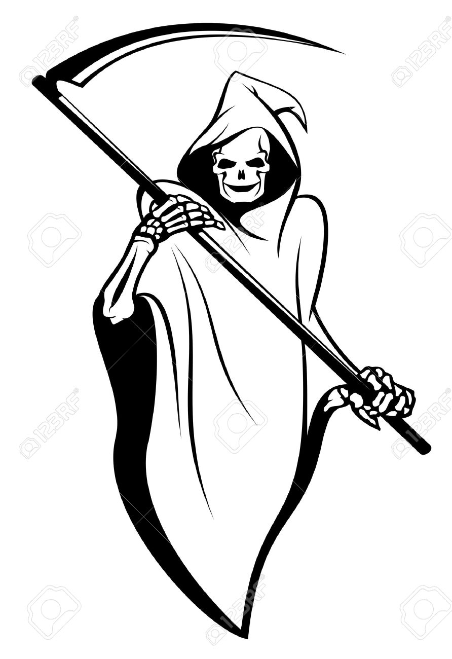 It is a picture of Zany Cartoon Ghost Tattoo Drawing