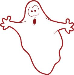 Ghost Outline Clipart