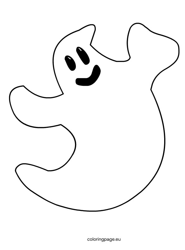 595x804 Ghost Clipart Colouring Page