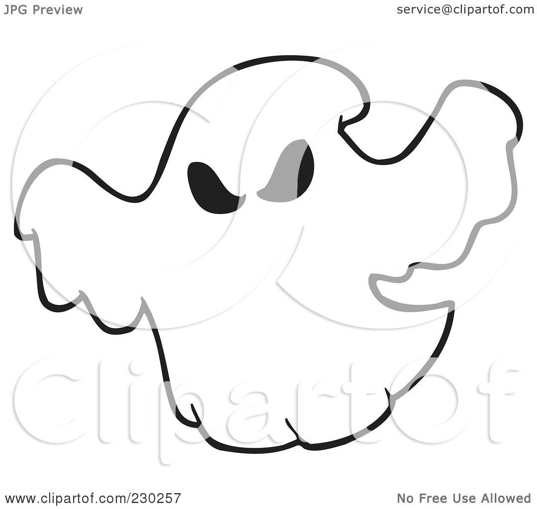 1080x1024 Ghostly Clipart Coloring Page