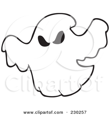 450x470 Clipart Of A Ghost