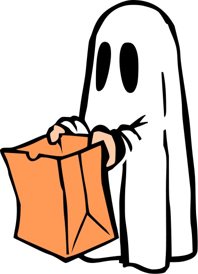 Ghost Saying Boo Clipart