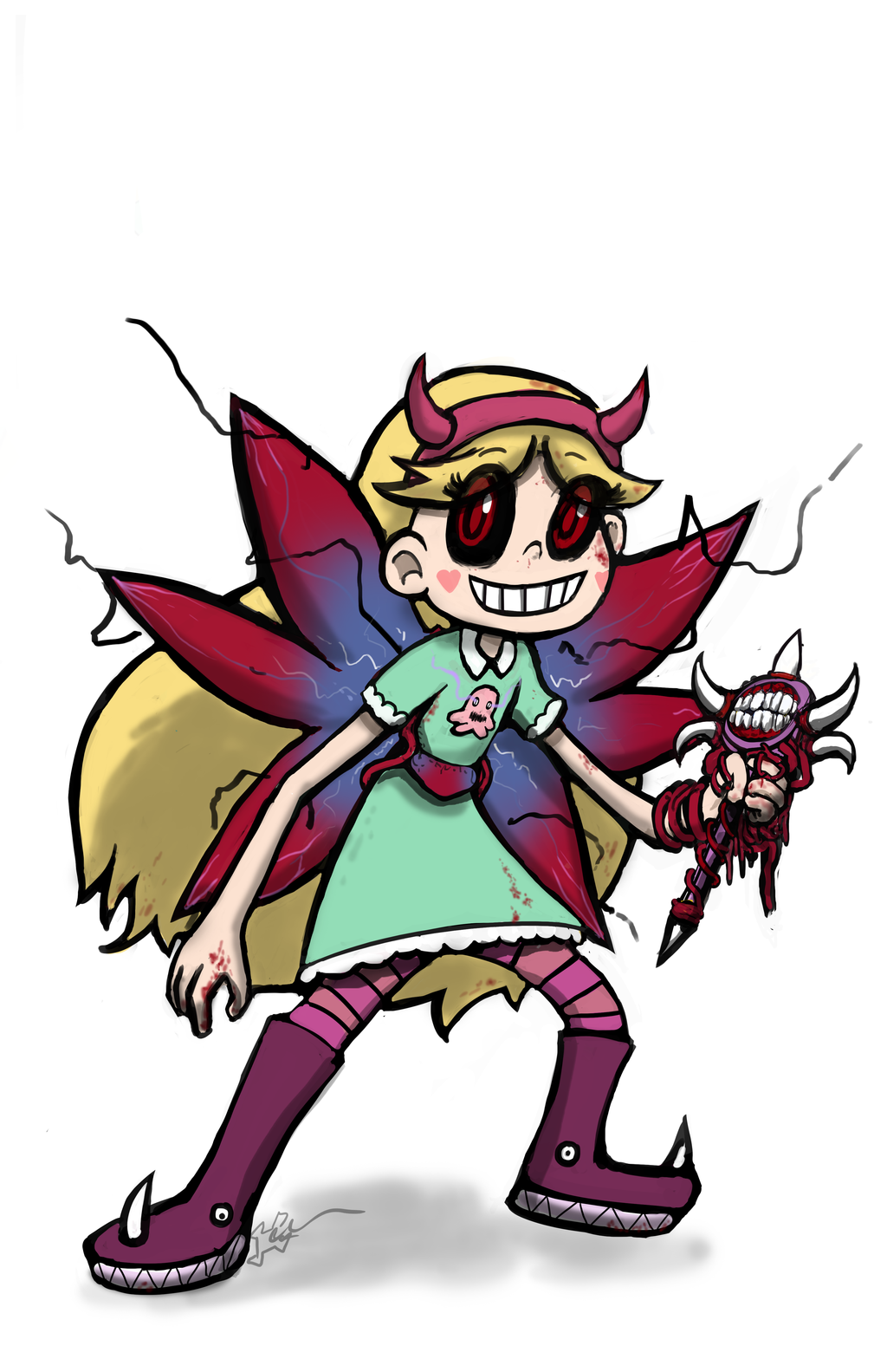 1024x1583 Ghoul Star Butterfly By Oasiscommander51