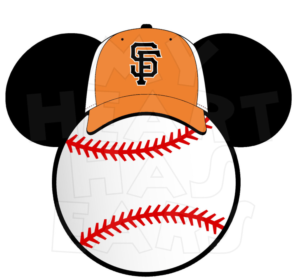 1024x953 San Francisco Giants Baseball With Mickey Mouse Instant Download