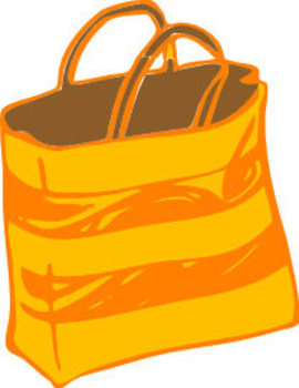 270x350 Clipart Picture Of A Yellow And Orange Gift Bag