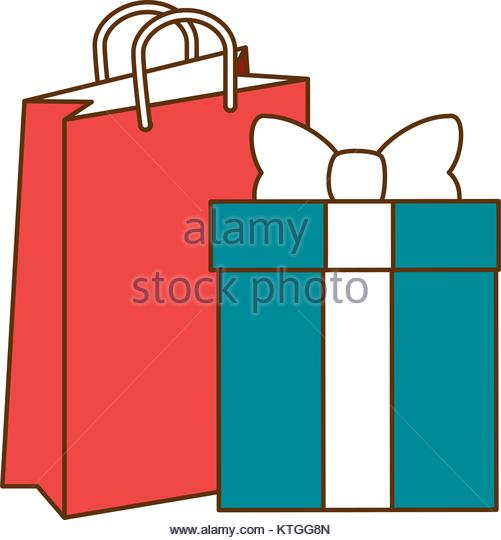 501x540 Gift Bag Drawing Shopping Stock Photos Amp Gift Bag Drawing Shopping