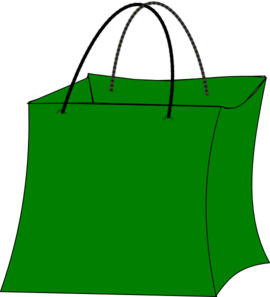 270x297 Green Gift Bag Clip Art