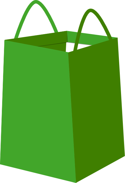 408x595 Green Shopper Bag Clip Art