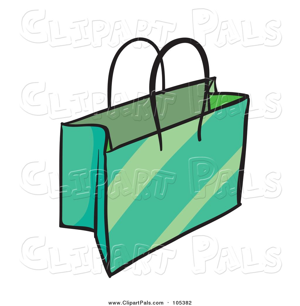 1024x1044 Pal Clipart Of A Green Shopping Or Gift Bag By Graphics Rf