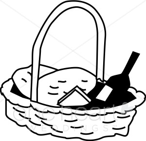 300x290 Black And White Picnic Basket Clipart Wedding Picnic Clipart