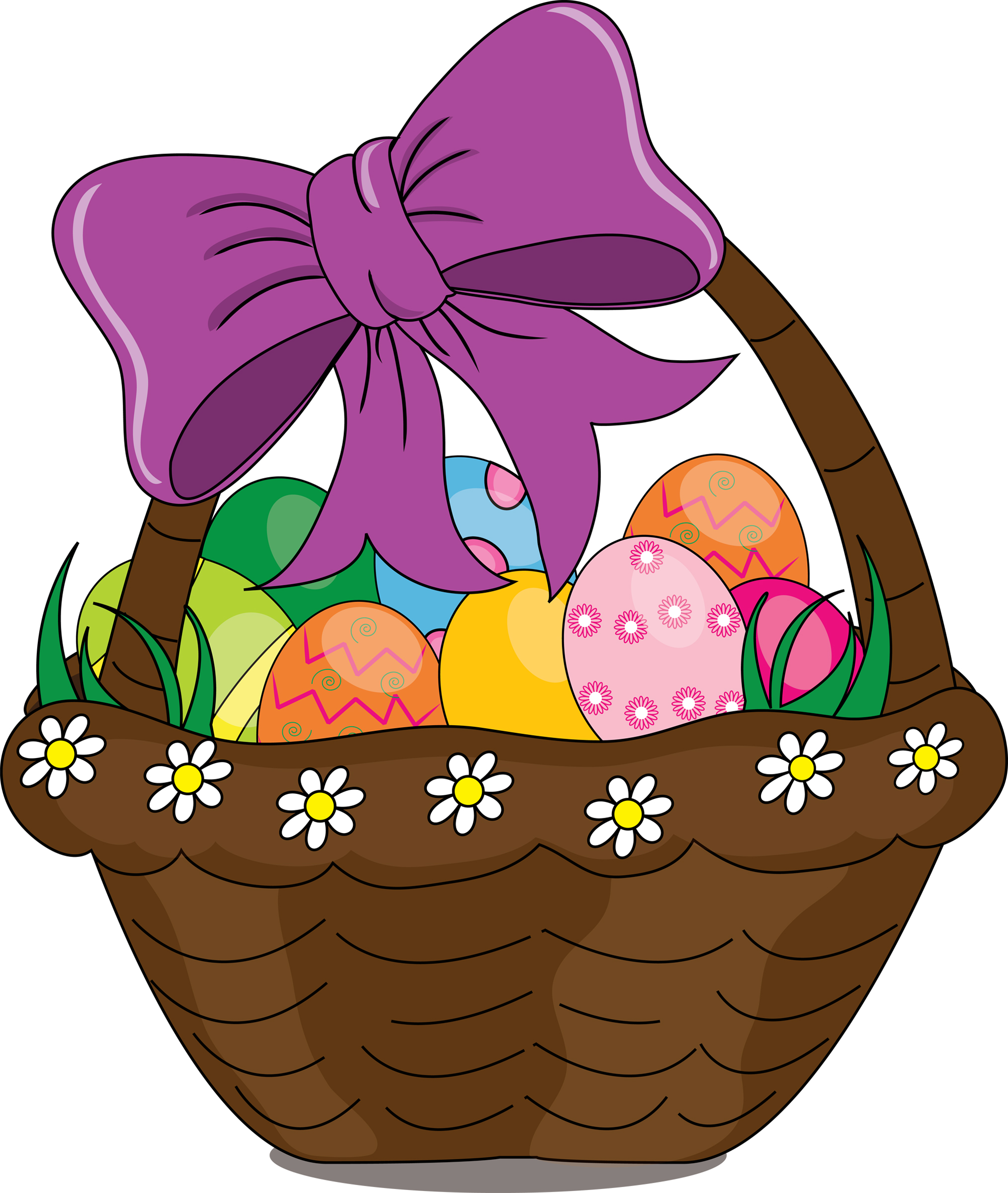 2028x2400 Clip Art Illustration Of A Cartoon Easter Basket Wv Family Online