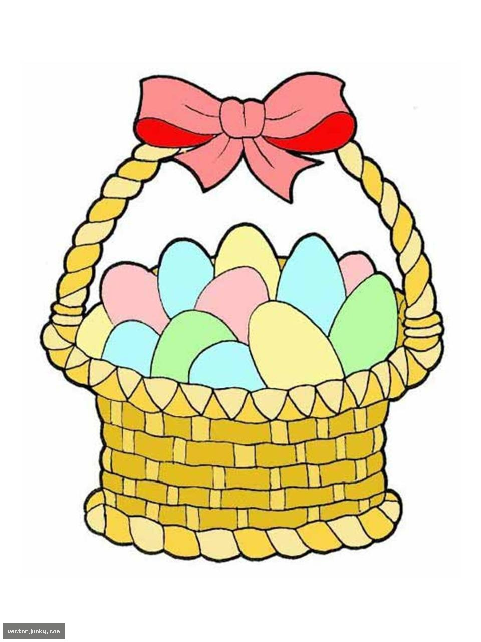960x1280 Easter Egg Basket Clip Art
