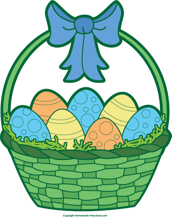 570x720 Gift Basket Easter Basket Clip Art 5