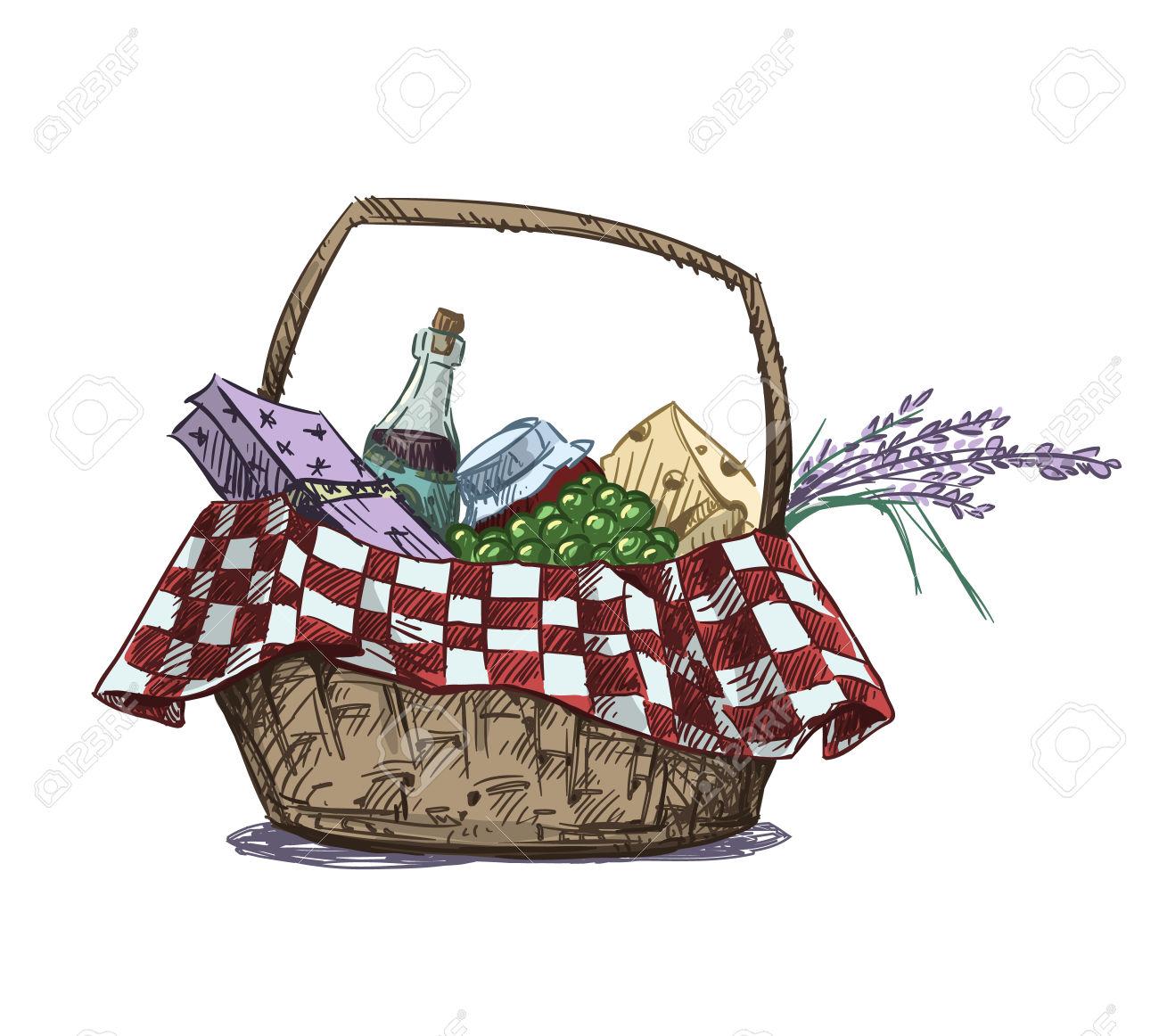 1300x1162 Picnic Basket Clipart Gift Hamper