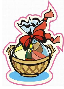 267x370 Silent Auction Basket Clip Art