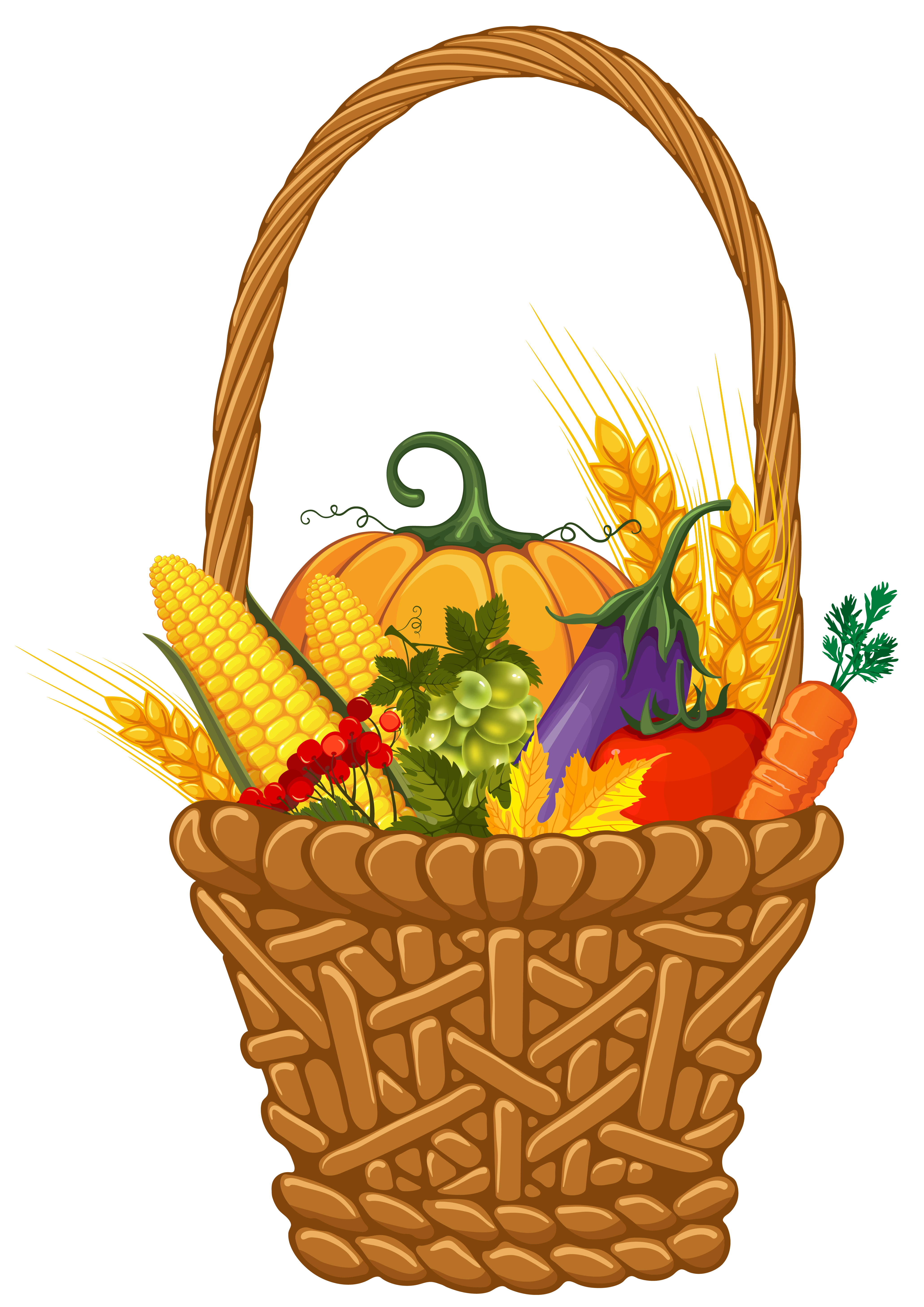 4120x5826 Basket Clipart Harvest Basket