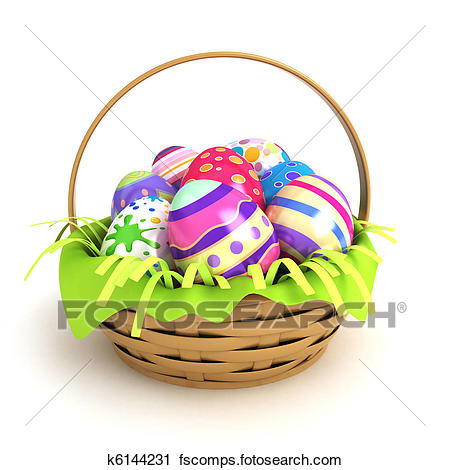 450x470 Basket Eggs Illustrations And Clip Art. 1,840 Basket Eggs Royalty