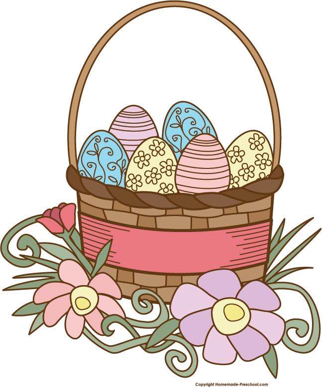 647x779 Basket Clipart Easter Basket
