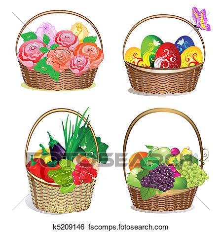 450x470 Basket Strawberries Clipart Eps Images. 363 Basket Strawberries