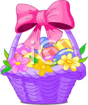 293x350 Colorful Spring Easter Basket