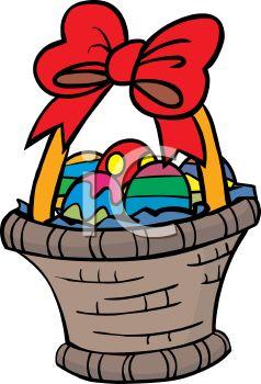 238x350 Gift Basket Cartoon Clipart