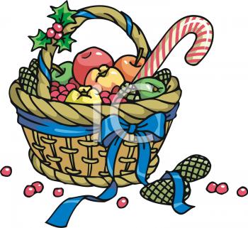 350x321 Gift Clipart Christmas Basket