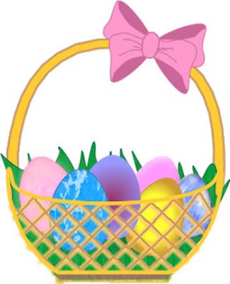 325x400 Kids Easter Basket Clipart