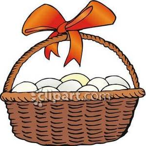 300x300 Egg Basket Clipart