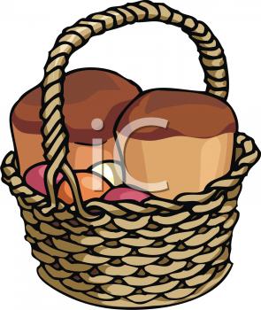 295x350 Gift Basket Cartoon Clipart