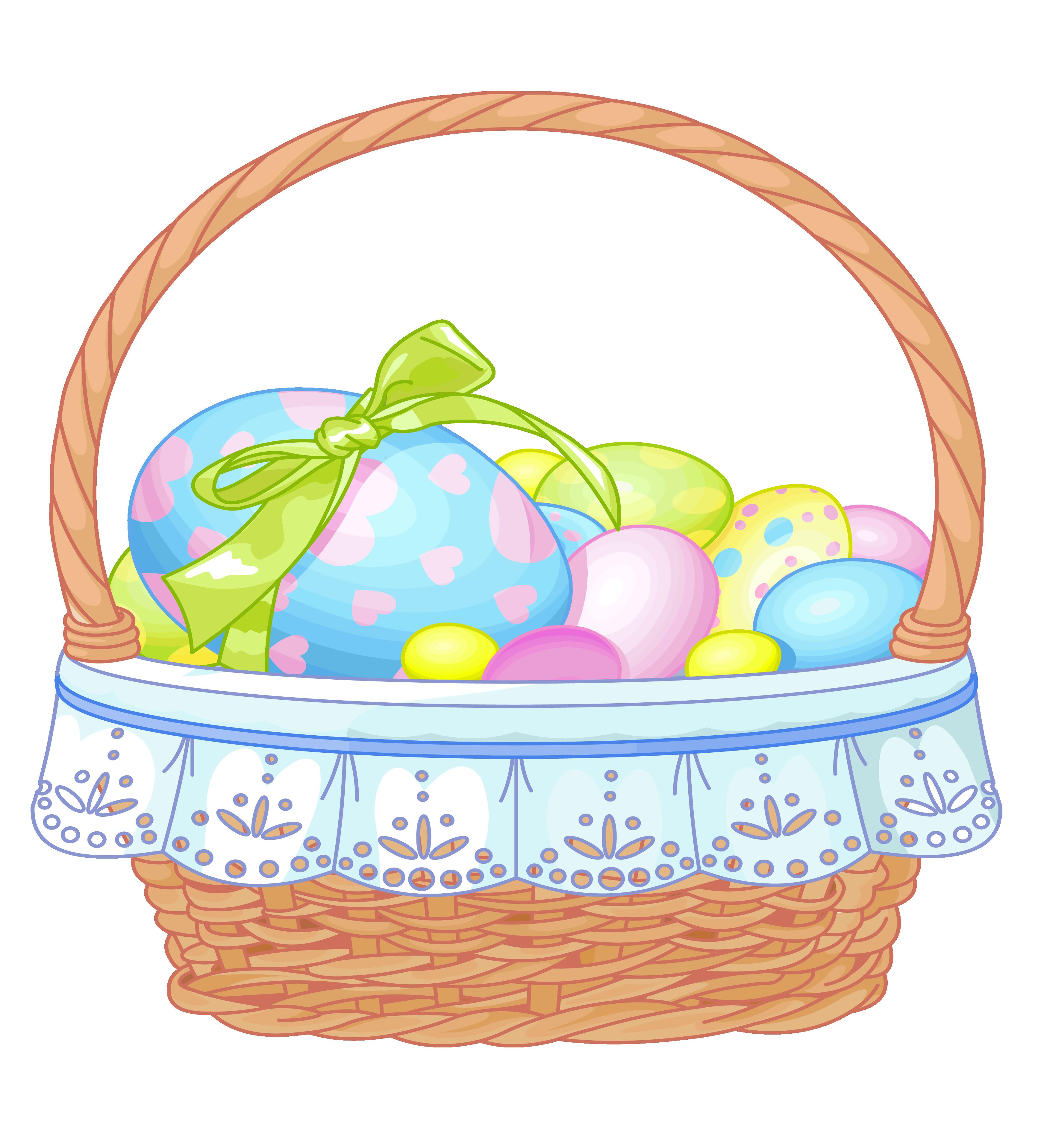 3467x3836 Gift Basket Easter Basket Clipart