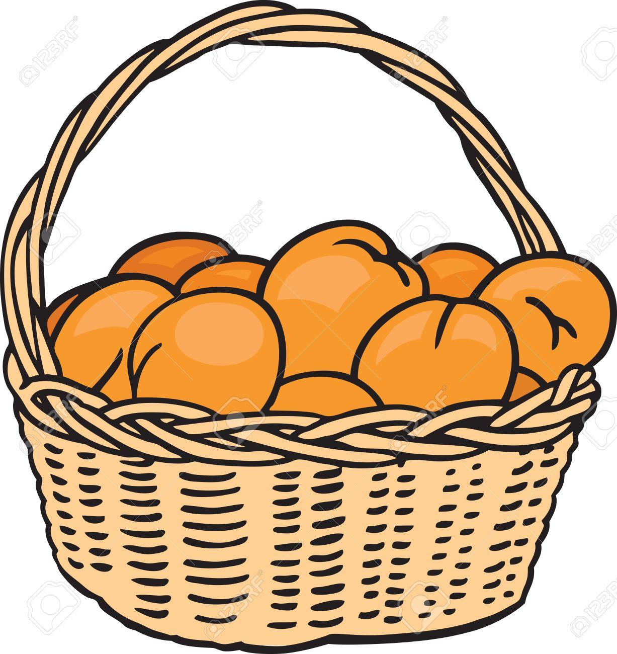 1227x1300 Orange (Fruit) Clipart Basket