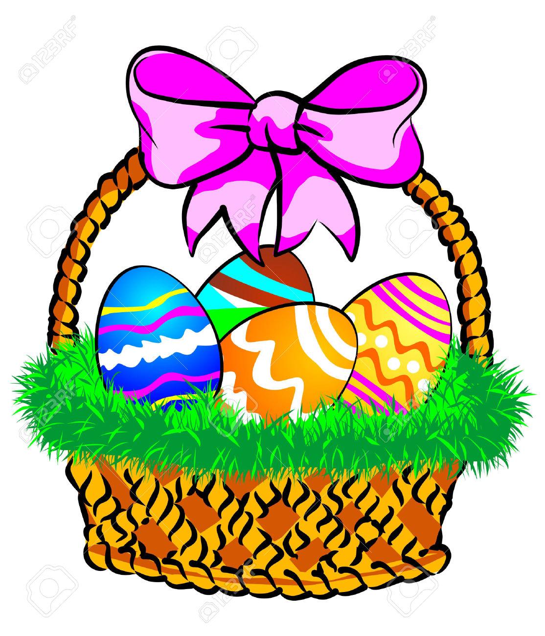 1114x1300 Basket Clipart April Easter