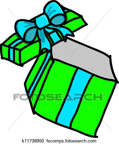 387x470 Clipart Of Opened Gift Box K11739950