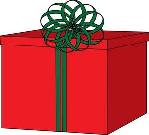 300x273 Free Christmas Gift Clip Art Image