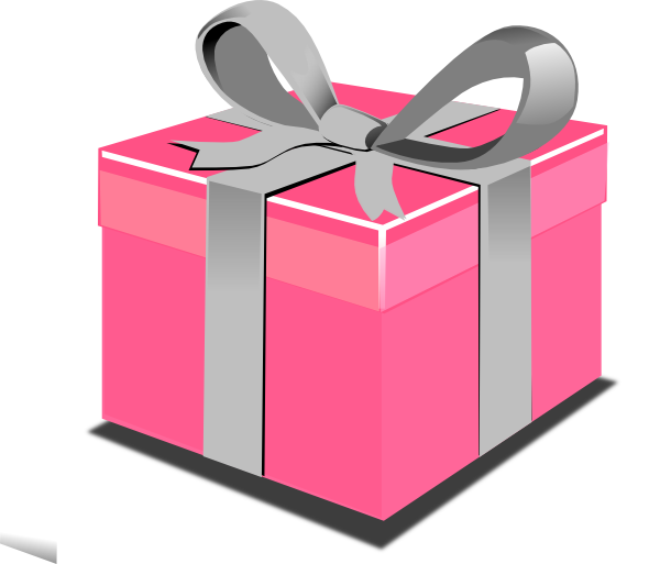 600x513 Pink Present Box Clip Art