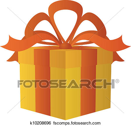450x434 Clip Art Of Gift Box Square K10208696