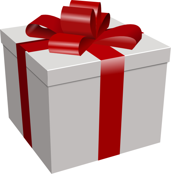 582x595 Gift Box Clip Art