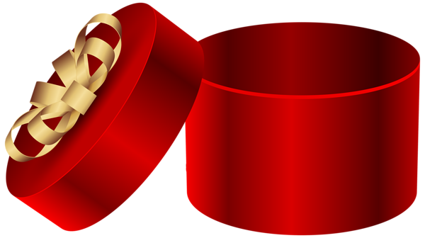 600x336 Red Open Round Gift Box Png Clipart Image Cajas