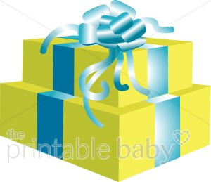 300x259 Wrapped Gift Boxes Clipart Baby Shower Clipart