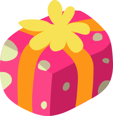 390x400 Yellow Clipart Gift Box