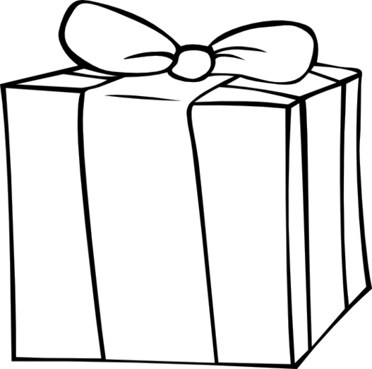 527x522 Black And White Gift Clipart