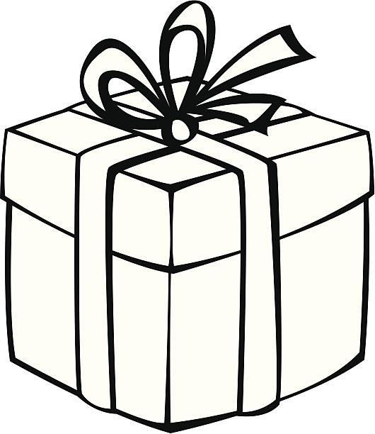 530x612 Gift Clipart Black And White Free